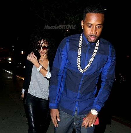 Candice with her ex-bae Safaree.