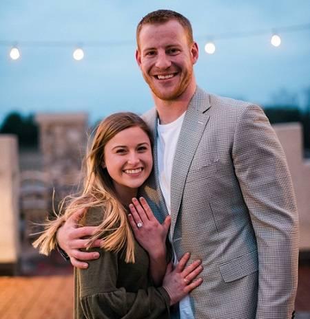 Carson Wentz engagement ring .