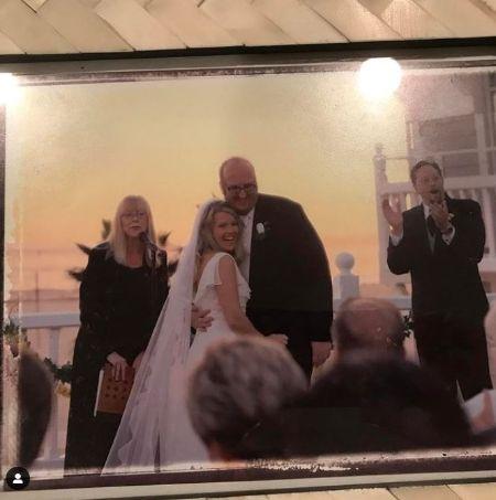 Melanie Truhett And Her Husband Brian Posehn On The Wedding Day