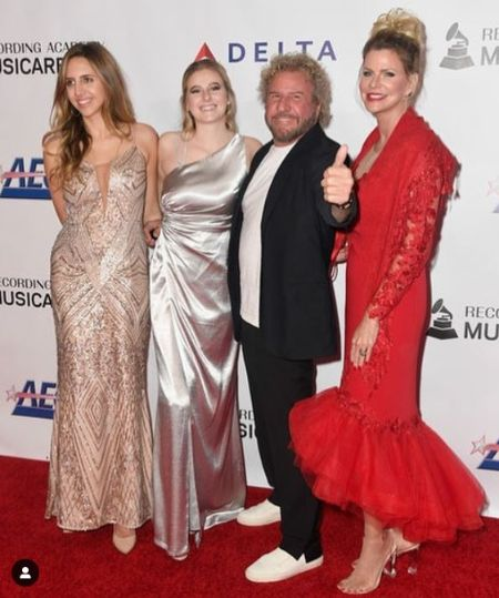 Samantha With her Father Sammy Hagar, Mother, And Sister