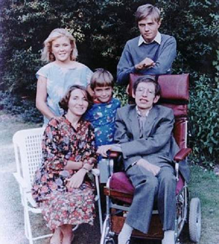 Timothy Hawking with his family members including biological father Stephan.