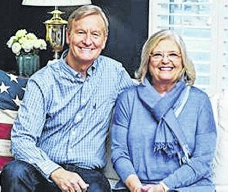 Kathy with her husband Steve.