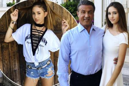 Scarlet is the Sylvester Stallone's youngest daughter.