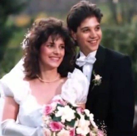 Phyllis and her hubby at their wedding.