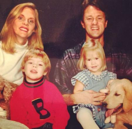 Cassidy with her brother Brennan and parents.