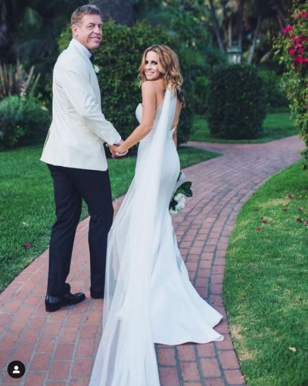Catherine and Troy On Their Wedding Day In 2017