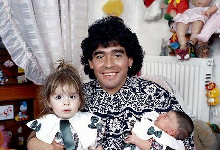 Giannina Maradona family.