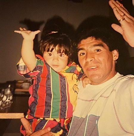 Diego Armando with Giannina.