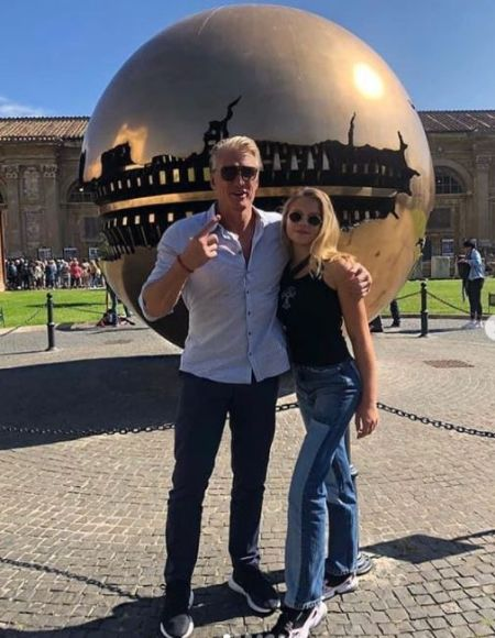 Greta Lundgren With Her Father Dolph