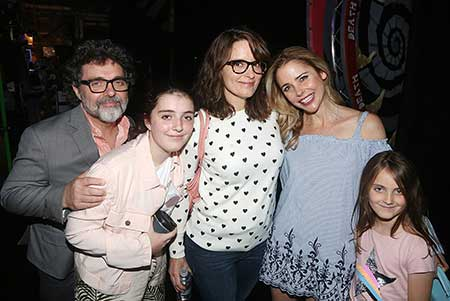 Alice with her parents, sister and actress Kerry Butler