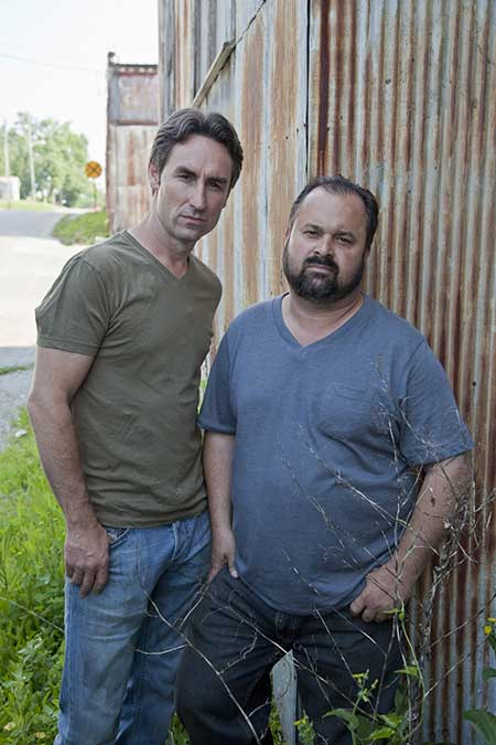 Frank and his 'American Pickers' co-star Mike Wolfe