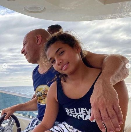 Hania Riley Sinclair With Her Father Vin Diesel