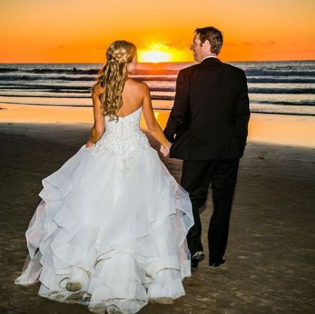Heidi and Her Husband Mike Wickham In Their Wedding Dress