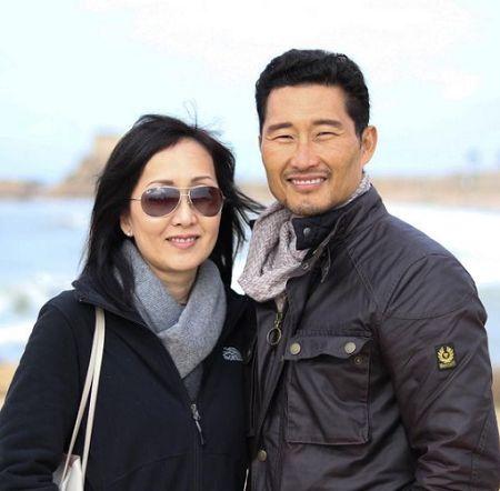 Mia Kim and her partner Daniel.
