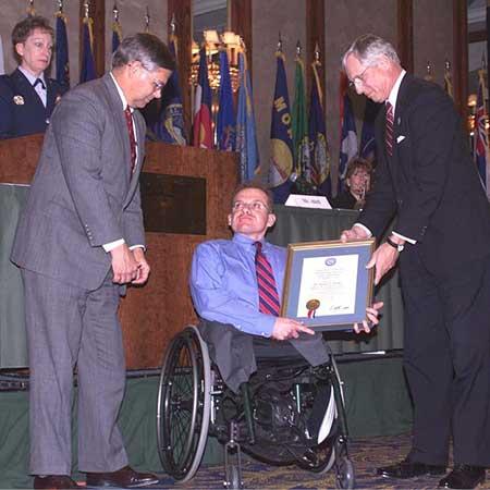 Daniel Philbin was honored for his heroic work