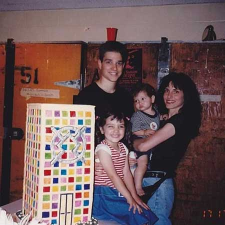 Julia Macchio with her parents and brother