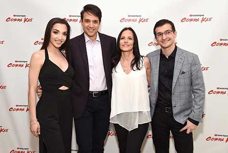 Julia Macchio with her family