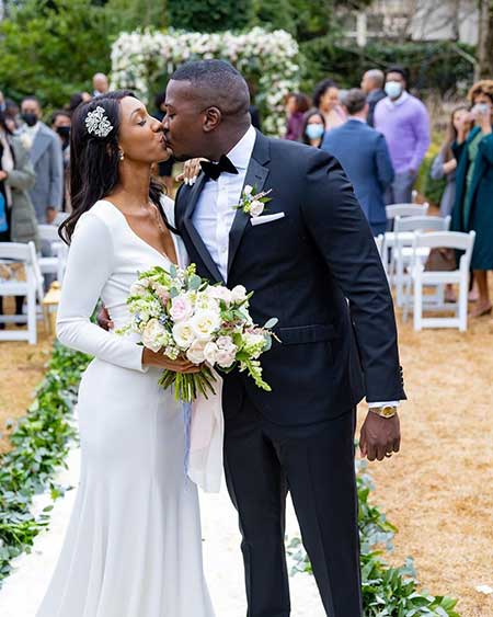 Maria Taylor Husband Jon On Their Wedding Day