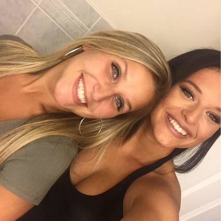 Dino Guilmette's daughter, Mia (left) from his previous relationship