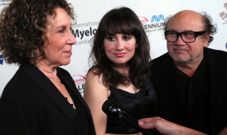 Rhea Perlman, daughter actress Lucy DeVito and Danny DeVito attend the International Myeloma Foundation's 8th Annual Comedy Celebration at the Wilshire Ebell Theatre on November 8, 2014, in Los Angeles, California. | Source: Getty Images.
