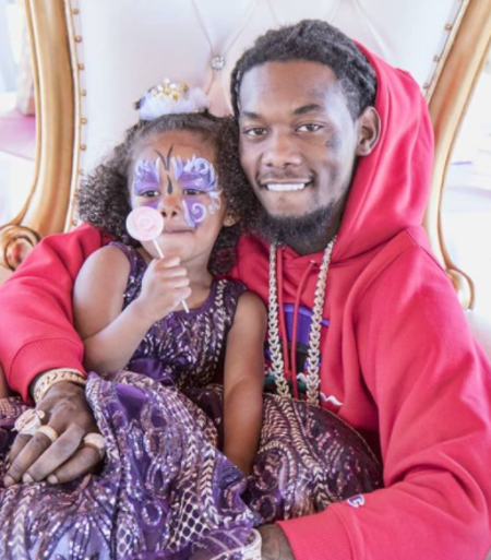 Kalea Cephua with her rapper father, Offset