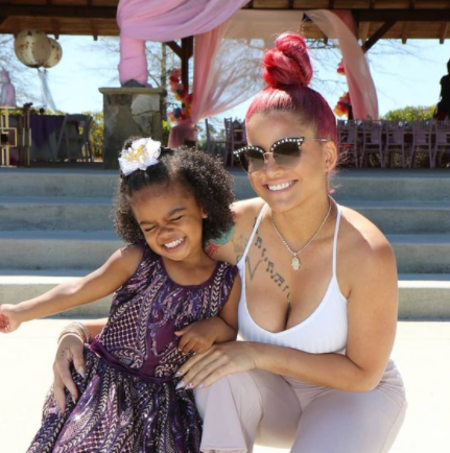 Kalea with her mother, Shya