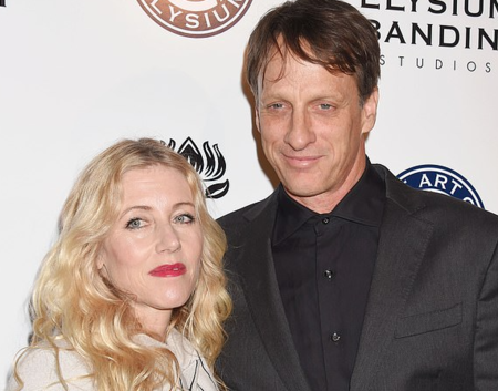 Cathy Goodman and her husband, Tony Hawk
