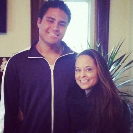 Kari Hillsman with her son, Kyle Fox