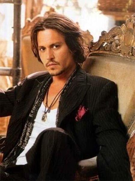 Actor Johnny Depp is Billy Raymond Burton's Godfather