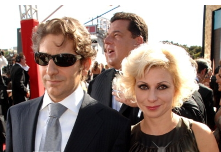 Victoria Chlebowski with her husband, Michael Imperioli at the 59th Primetime EMMY Awards at the Shrine Auditorium on September 16, 2007 in Los Angeles, California.