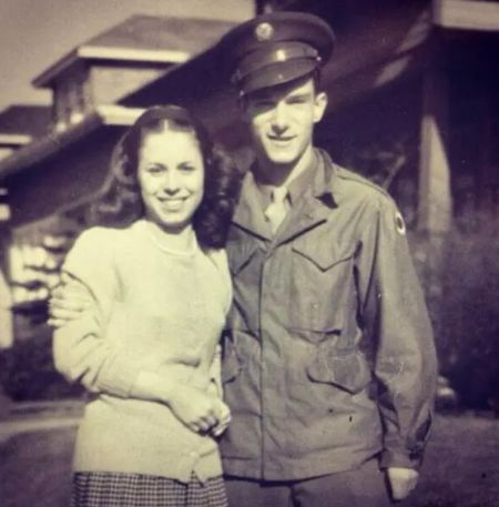 Millie With Hugh Back When He Was In The Army