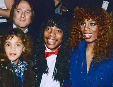 Mimi Summer with rick james and her mother, Donna Summer