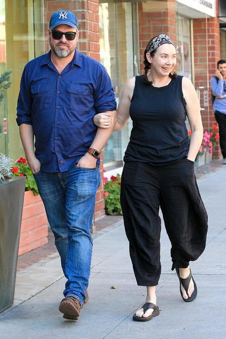 Stephanie Courtney with her husband, Scott Kolanach in 2017
