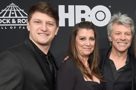 Jesse Bongiovi with his mother, Dorothea and father, Jon Bon Jovi