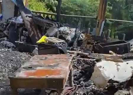 Rachael Ray's fire-destroyed house