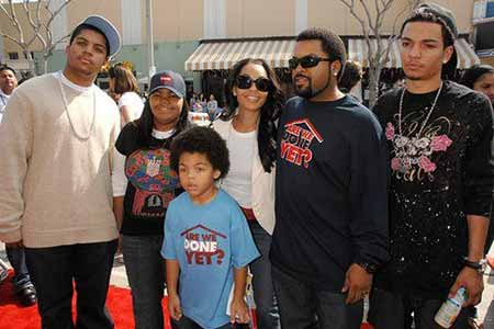 Kim and her husband with their four kids