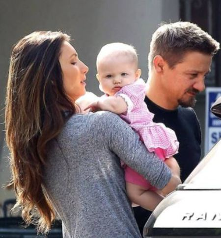 Jeremy Renner with his former wife, Sonni Pacheco, and their daughter, Ava Berlin Renner. Source: GEVA/AKM-GSI
