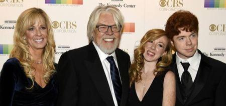 Singer Bob Segar (2nd,L) his wife Juanita Dorricott (L) and children Samantha and Cole in December 2016, in Washington, DC.