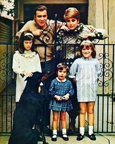Childhood photo of Lisabeth Shatner with her family